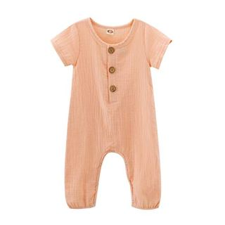 Infant Baby Girls Pink Romper Summer Jumpsuit Girl Short Sleeve Romper Girl Infant