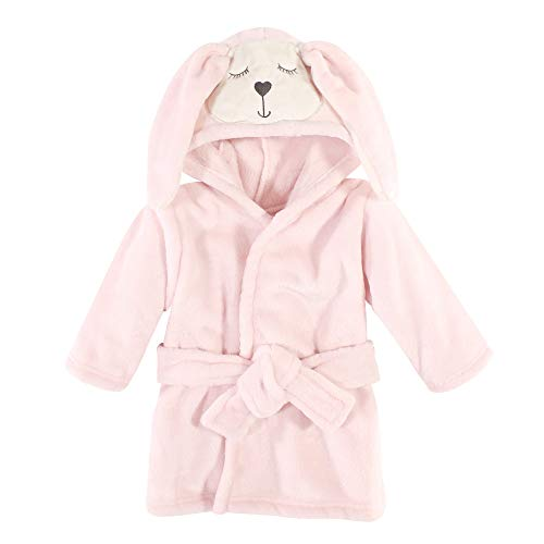 Hudson Baby Unisex Baby Plush Animal Face Bathrobe, Modern Bunny
