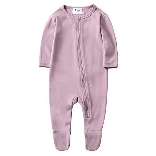 O2Baby Baby Boys Girls Organic Cotton Zip Front Sleeper Pajamas