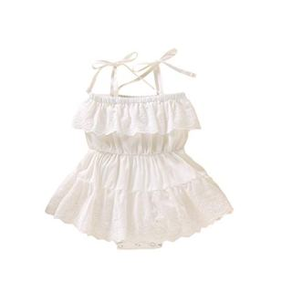 Infant Baby Girl Clothing Lovely Summer Romper White Yellow Red Daily Lace Tutu