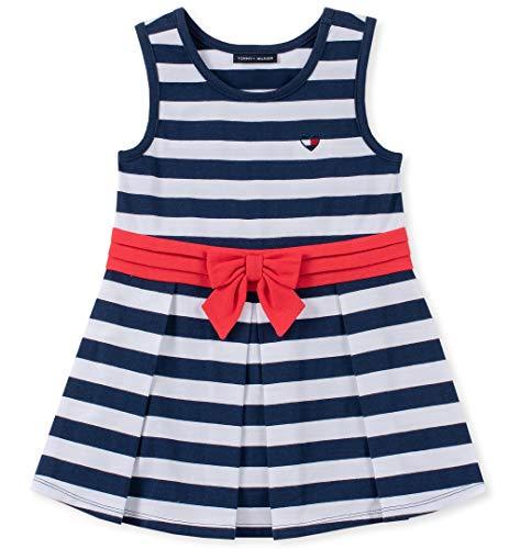 Tommy Hilfiger Baby Girls Dresses, Navy -White Stripes