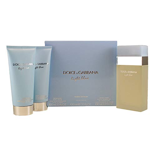 DOLCE GABBANA Light Blue 3 Piece Eau De Parfums Set for Women