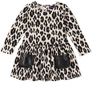 Calvin Klein Baby Girls Dress, Animal Print, 12M