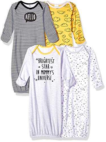 GERBER Baby Boys' 4-Pack Gown, Star