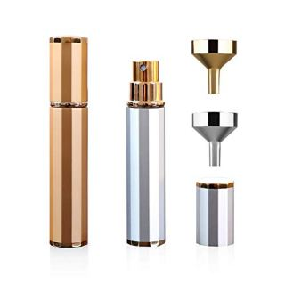 2Pcs Travel Perfume Atomizer Set with Mini Funnel Fillers,Portable Refillable Perfume