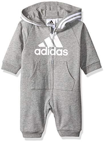 adidas Baby Girls Coverall, Gry Heather AH, 18 Months