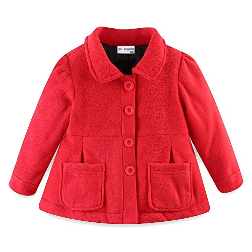 Mud Kingdom Baby Girl Fleece Jacket Coat Red 12 Months