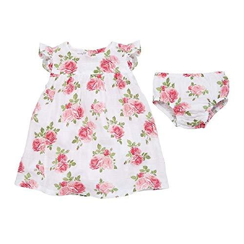 Mud Pie Baby Girl's Muslin Rose Dress (Infant/Toddler) Cream 12-18 Months