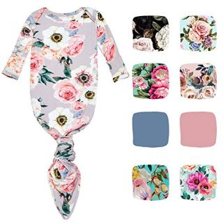 Posh Peanut Newborn Gowns for Girls Soft Baby Clothes - Viscose from Bamboo
