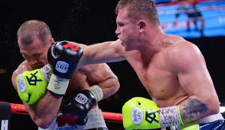 canelo kovalev cross punch fight