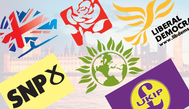 UK main Political party logos print print