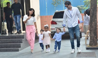 Sunny Leone with her three kids and husband