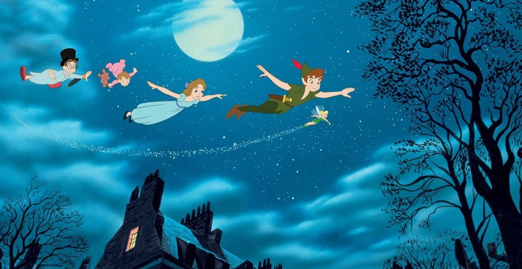 Peter Pan Disney Wendy flight