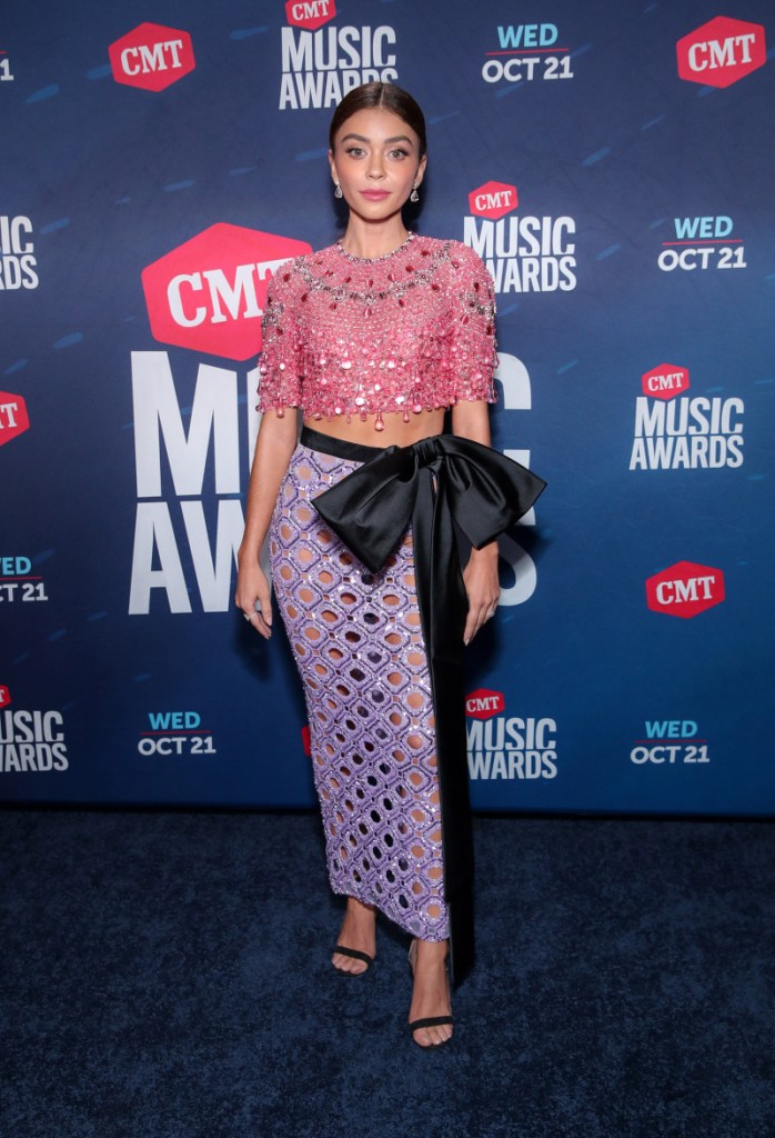 UNSPECIFIED - OCTOBER 21: In this image released on October 21, Sarah Hyland attends the 2020 CMT Awards broadcast on Wednesday October 21, 2020. (Photo by Rich Fury/CMT2020/Getty Images for CMT)