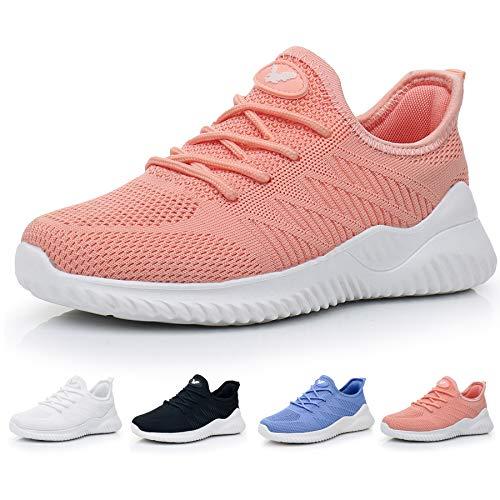 JARLIF Women's Memory Foam Slip On Walking Tennis Shoes Lightweight