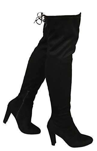 Wild Diva AMAYA-01 Women's Thigh High Stretch Boot - Trendy High Heel Shoe