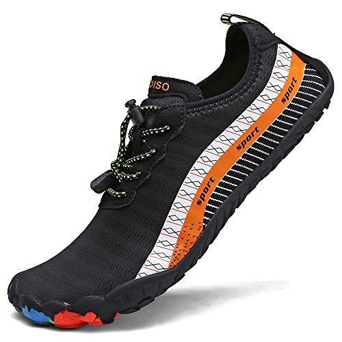 XIDISO Womens Water Shoes Mens Quick Dry Slip-on Barefoot Swimming Shoe