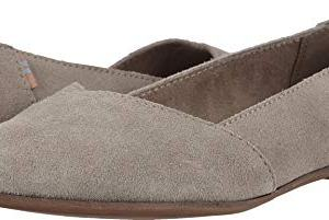 TOMS Women's Julie Desert Taupe Suede Flat Shoe