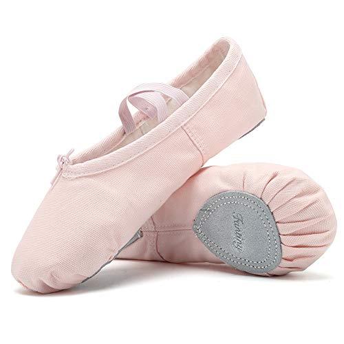 Ballet Shoes Ballet Slippers Girls Ballet Flats Canvas Dance Shoes Yoga Shoes(Toddler/Little Kid/Big Kid/Women/Boy) Pink
