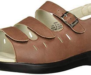 Propet Women's Breeze Walker Sandal,Teak Brown