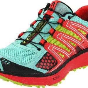 Salomon Women's XR Mission Running Shoe,Celedon/Papaya/Pop Green