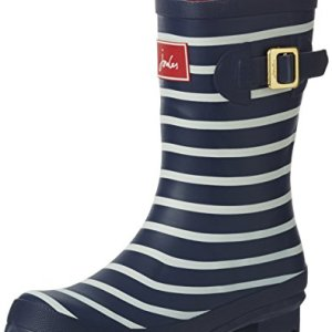 Joules Women's Molly Welly Rain Shoe, French Navy Stripe