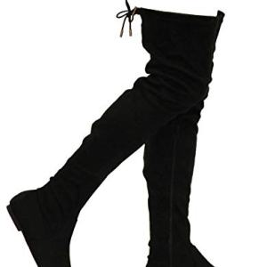 MVE Shoes Womens Fashionable Flat Over The Knee Boots