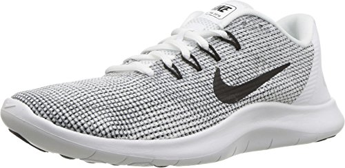 Nike Women's Flex RN 2018 Running Shoe White/Black/Cool Grey Size 8.5 M US