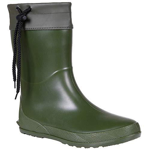 Women's Mid Calf Rain Boots Collar Gardening Boots Ultra Lightweight