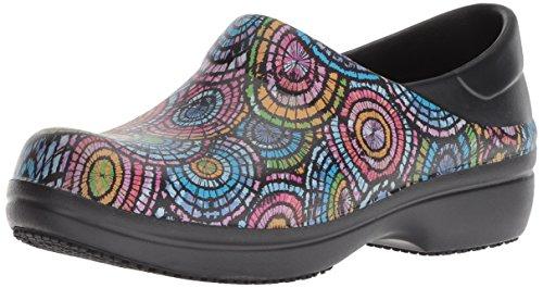 crocs Women's Neria Pro II Graphic Clog W Shoe, black/multi