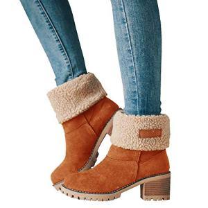 Athlefit Women's Winter Snow Boots Warm Suede