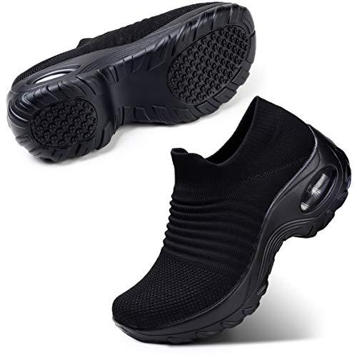 STQ Women's Slip On Walking Shoes Breathable Lightweight Mesh