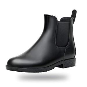 Women Rain Boots Waterproof Ankle Garden Shoes Anti-Slip Chelsea Booties