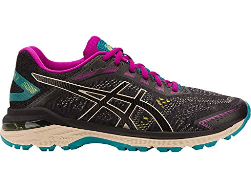 ASICS Women's Trail Running Shoes, 8M, Black/Feather Grey