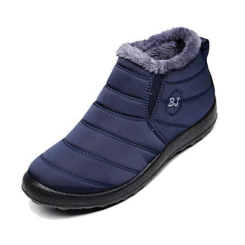 Netursho Women Warm Snow Boots, Winter Anti-Slip Ankle Booties