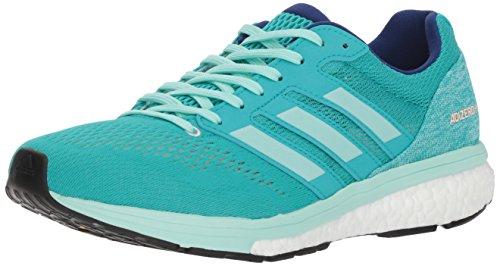 adidas Women's Adizero Boston 7 Running Shoe, hi-res aqua/clear mint/mystery ink, 6 M US