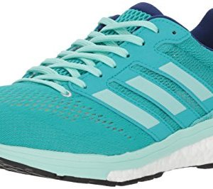 adidas Women's Adizero Boston 7 Running Shoe, hi-res aqua/clear mint/mystery ink, 6 M US