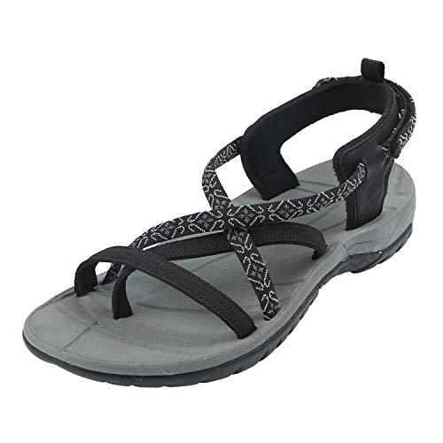 Northside Women's Covina Sandal, Black/Gray