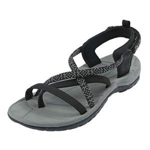 Northside Women's Covina Sandal, Black/Gray