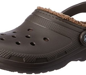 Crocs Classic Lined Clog Mule, Espresso/Walnut