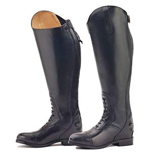 Ovation Ladies Flex Plus Black Field Boot, Wide Regular