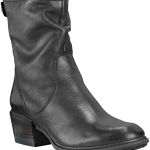 Timberland Women's Sutherlin Bay Mid Back Zip Boot Black Full