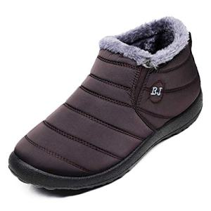 HAVINA Womens Warm Snow Boots Outdoor Fur Lining Winter Shoes