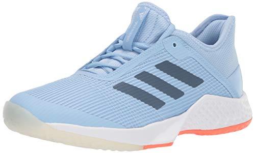adidas Women's Adizero Club Tennis Shoe, Glow Blue/tech Ink/hi-res Coral