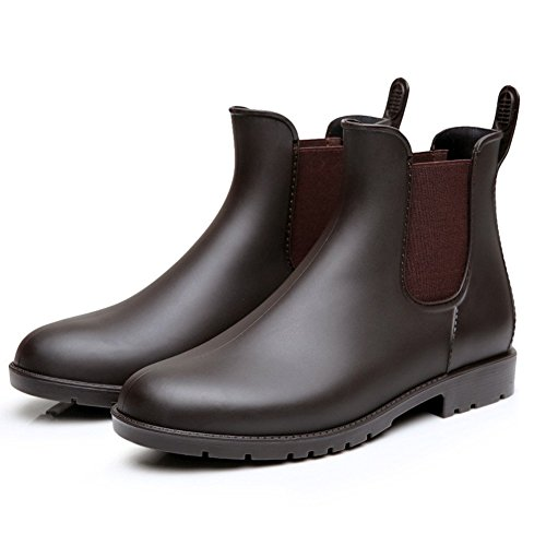 Colorxy Women's Ankle Rain Boots Fashion Elastic Chelsea Booties Anti Slip