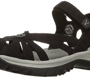 KEEN Women's Rose Sandal, Black/Neutral Gray