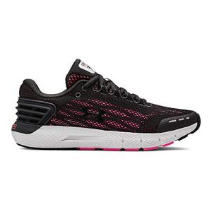 Under Armour Women's Charged Rogue Running Shoe, Jet Gray (105)/Peach Plasma, 6.5