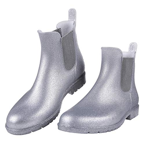 Women's Ankel Rain Boots Waterproof Slip On Chelsea Booties