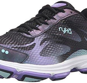 Ryka Women's Devotion Plus 2 Walking Shoe, Black/Purple, 8.5 M US