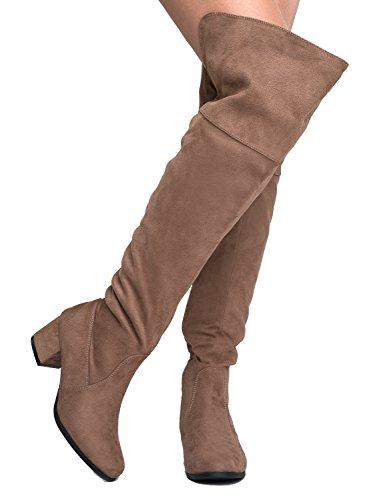 J. Adams Brandy Over The Knee Boot - Trendy Low Block Heel J. Adams Brandy Over The Knee Boot - Trendy Low Block Heel Suede Thigh High.